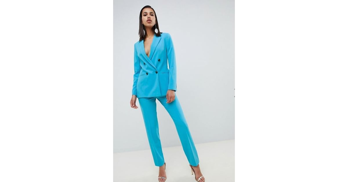 80d931ba0d ASOS DESIGN Tailored Pop Blue Longline Double Breasted Blazer ($110 ...