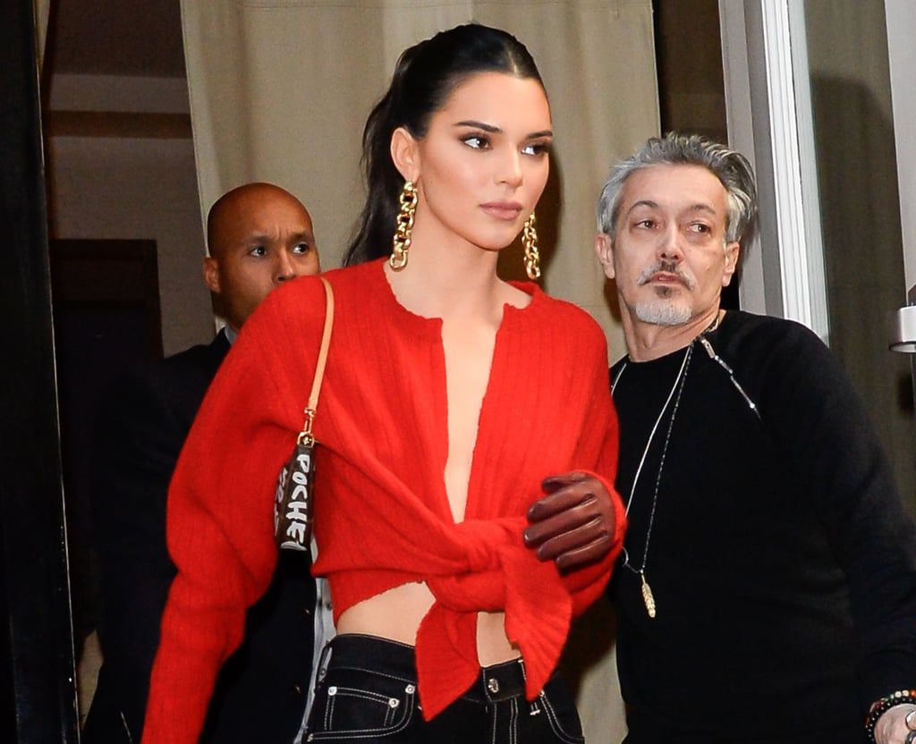 Kendall Jenner's Red Crop Top Valentine's Day 2019