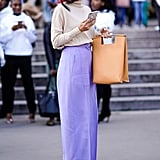 Make a Big Style Statement in Lavender Trousers — It's the Colour of the Year!