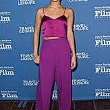 Alicia wore a Barbara Casasola pink set to the Santa Barbara International Film Festival.