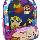 DC Comics Supergirl, Batgirl, and Wonder Woman Girls Backpack