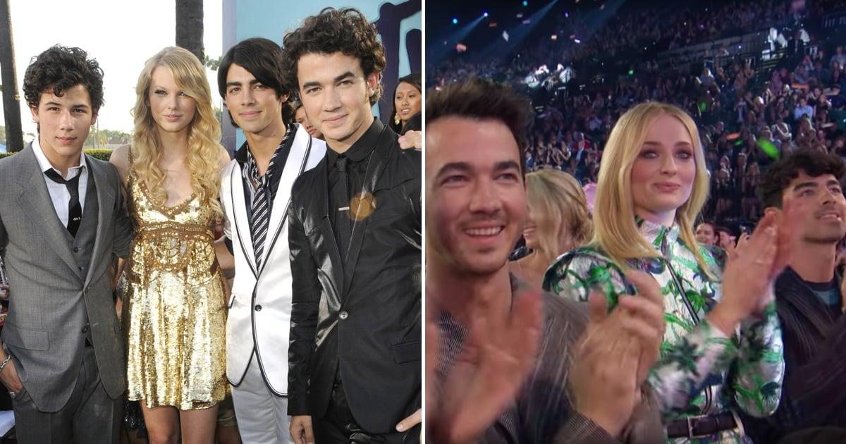 Jonas Brothers Reaction To Taylor Swift S Bbmas Performance Popsugar Celebrity
