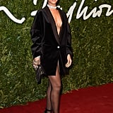 Rihanna walked the red carpet at the British Fashion Awards in London on Monday night.