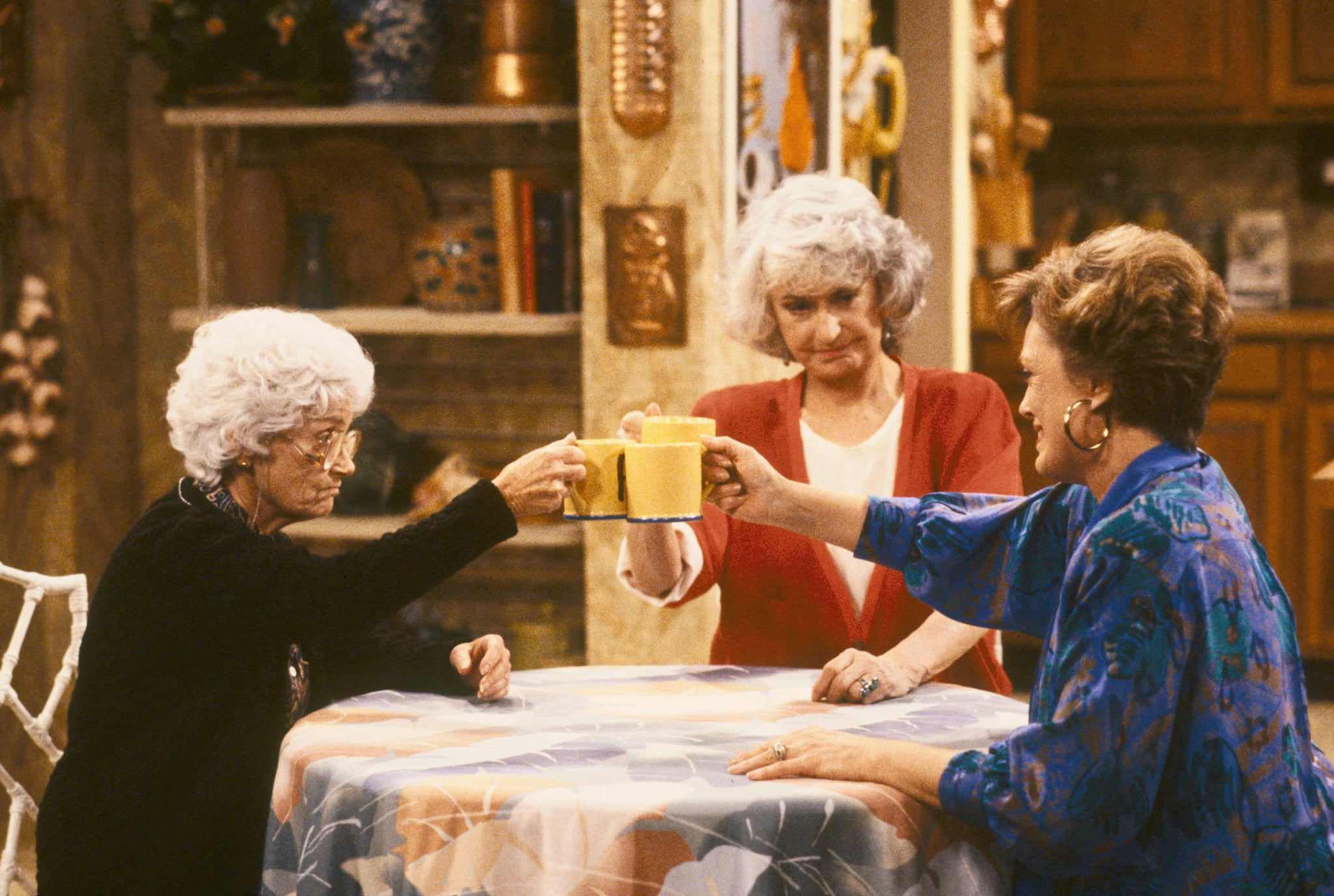 THE GOLDEN GIRLS, l-r: Estelle Getty, Bea Arthur, Rue McClanahan, 1985-1992. Touchstone Television/courtesy Everett Collection