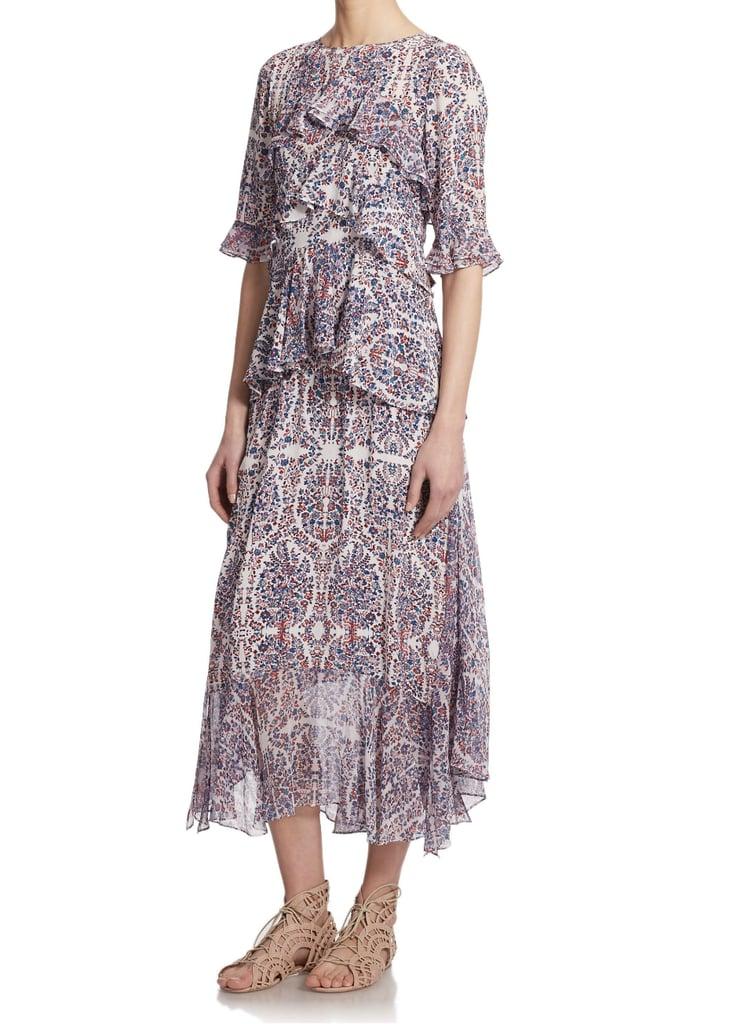 Rebecca Taylor Silk Paisley Ruffled Dress ($550)