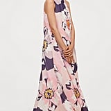 H&M Long Dress With Tie Collar