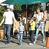 Oliver Hudson went out to lunch with his mom Goldie Hawn for her birthday.