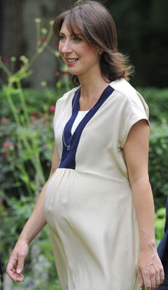 Pictures of Pregnant Samantha Cameron and David Cameron Who Have Called Their Daughter Florence Rose Endellion