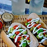 If hot dogs are a must on Super Bowl Sunday, make them the Chilean way, aka a completo, with tomato, avocado, mayonnaise, and sauerkraut.
