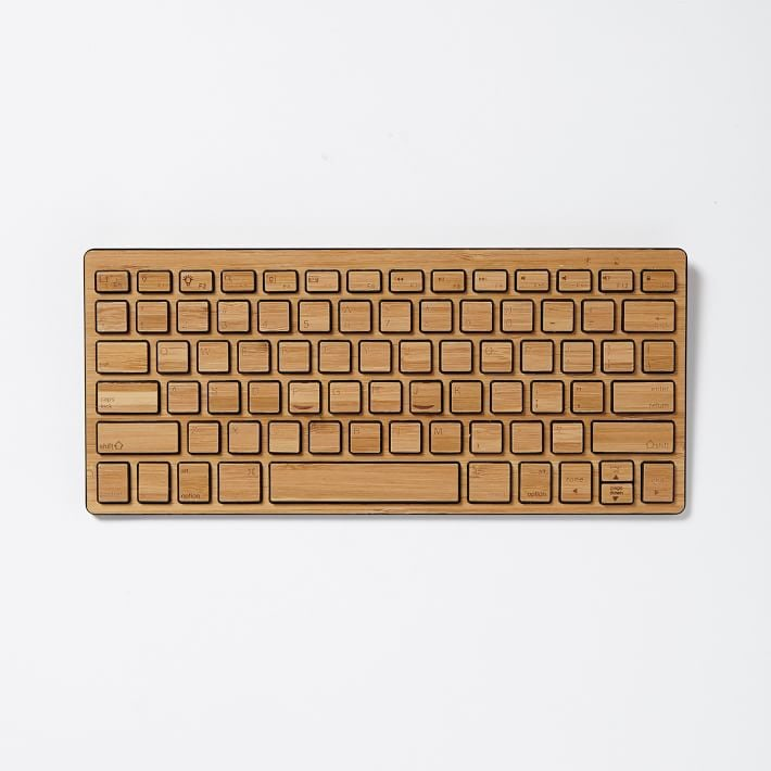 A wireless keyboard ($40, originally $69) is handy for anyone with a computer, and a bamboo finish makes it chic, too!