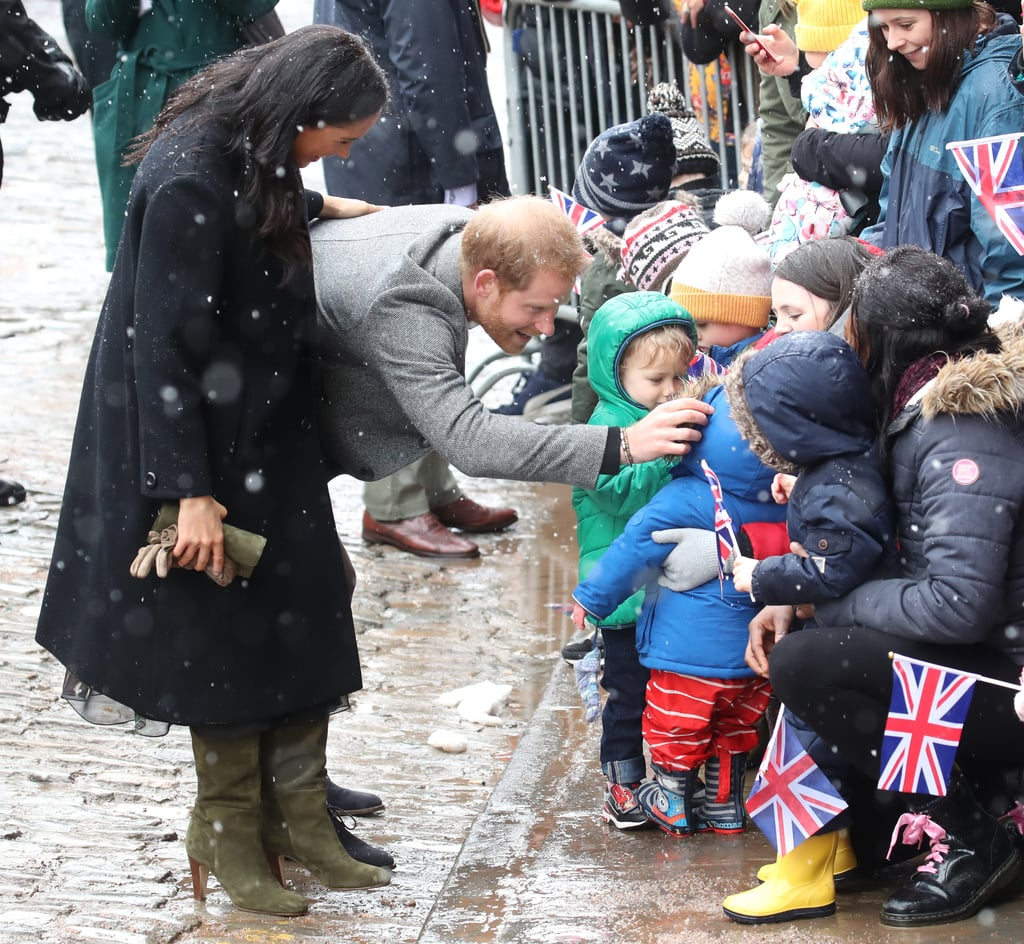 When He Braved the Snow and Met Adorable Toddlers in Bristol