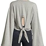 Tie-back sweatshirt