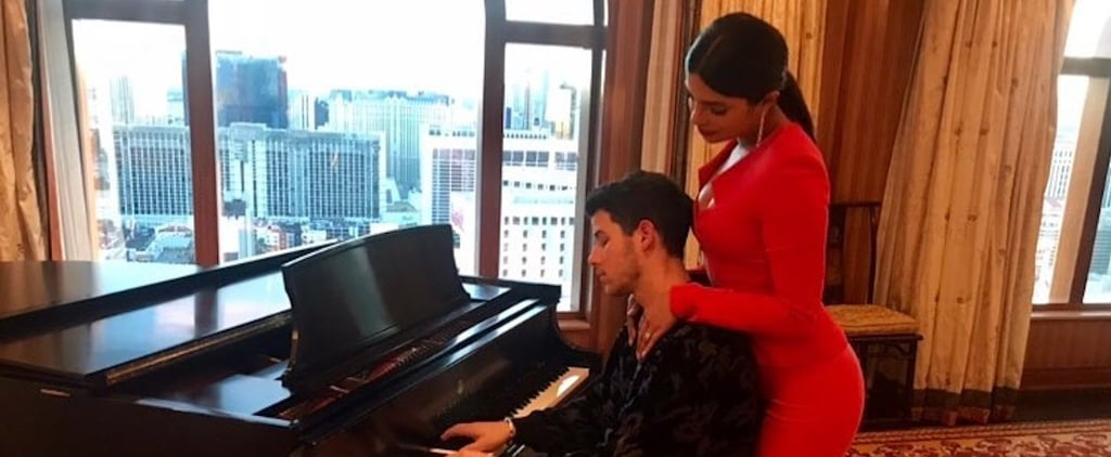 Priyanka Chopra's Red Jumpsuit With Nick Jonas