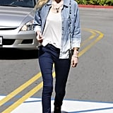 Kate gave us a cool denim-on-denim look to lust after in March 2012.