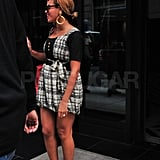 Beyoncé showed off her legs leaving her hotel for an appointment.