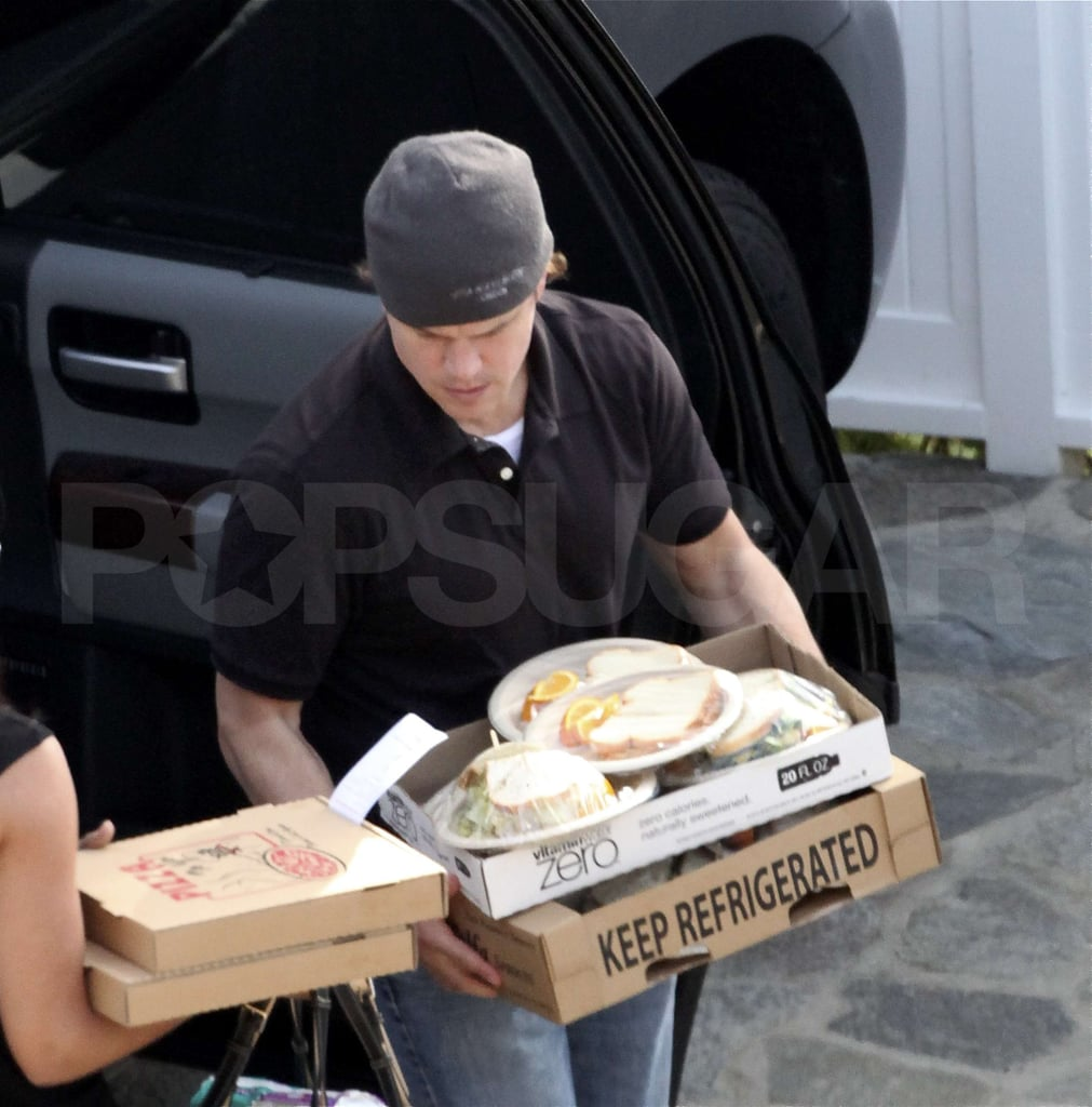 Matt Damon Is the Life of the Malibu Beach Party —With Sandwiches!