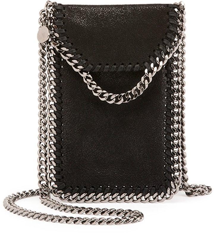 Stella McCartney Crossbody Bag Phone Holder w/ Chain Trim ...
