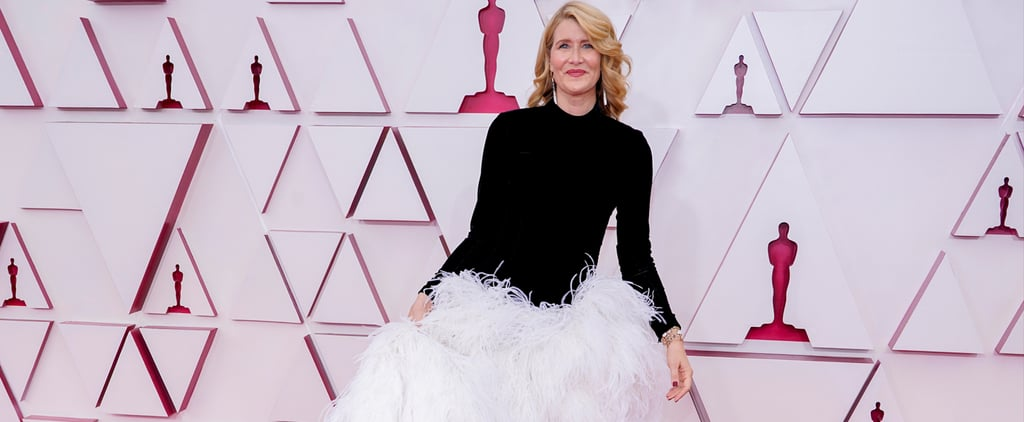 Laura Dern Looks Like Moira Rose in Oscar de La Renta Dress