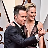 Sam Rockwell and Leslie Bibb Oscars 2018
