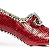 Kirsten's Gucci Women's Biba Snakeskin Pumps in Red