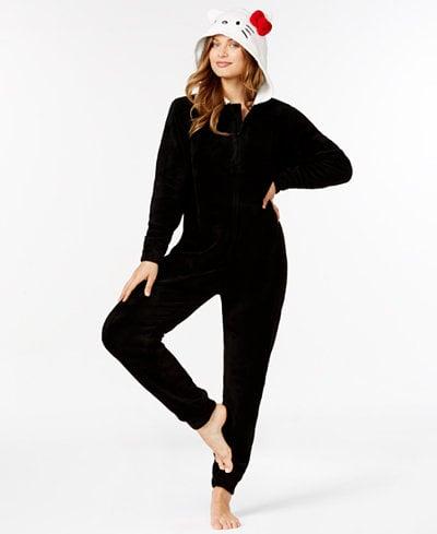 Hello Kitty Super Plush Hooded Jumpsuit ($39)