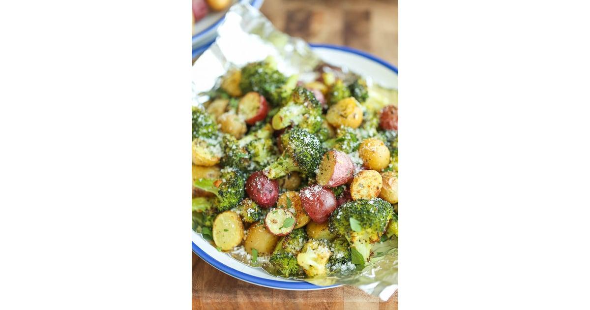 Garlic Parmesan Broccoli and Potatoes in Foil 50 Parmesan-Loaded