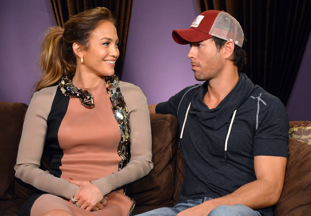 Enrique Iglesias chatted with Jennifer Lopez at a press conference to announce their Mega tour.