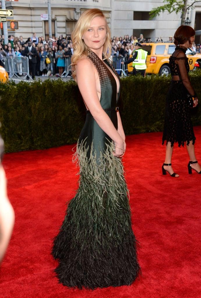 Kirsten Dunst at the Met Gala 2013.