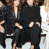 Eva Longoria and Kris Jenner at the Balmain Paris Fashion Week Show