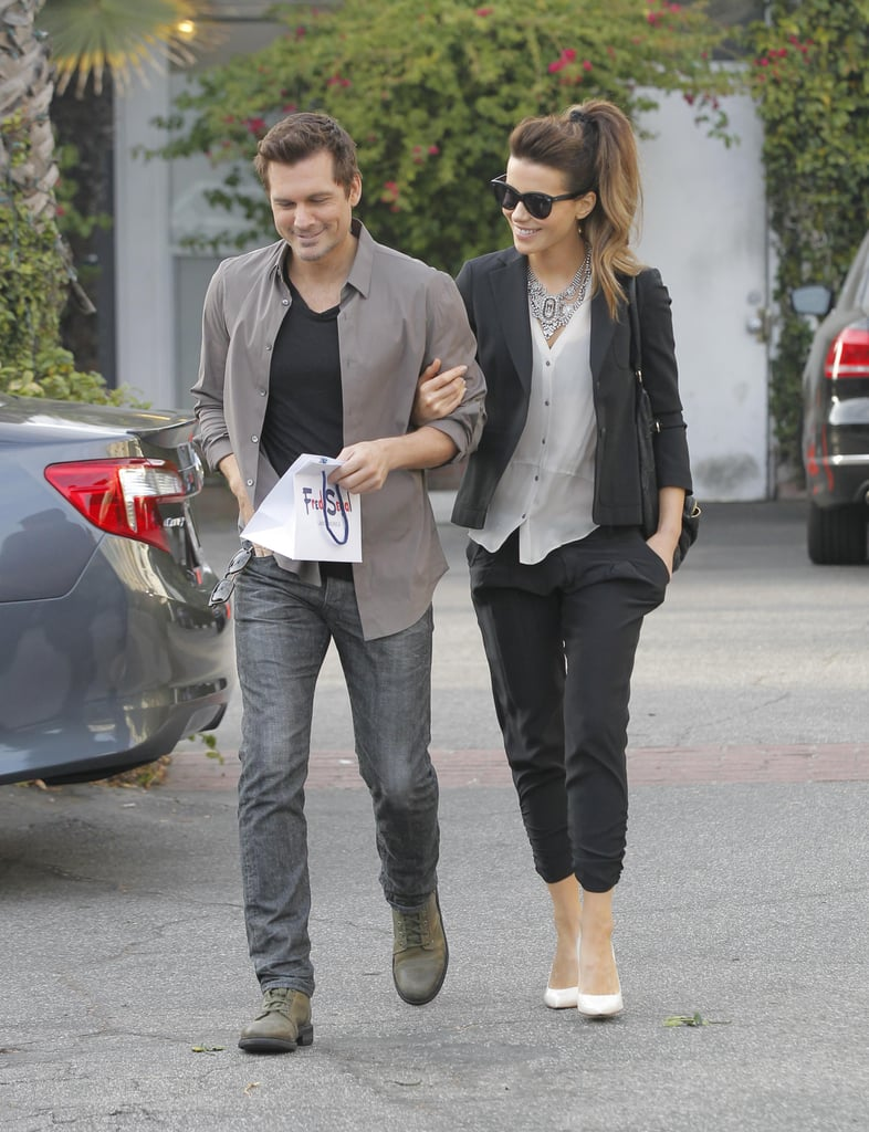 There's a sexy vibe to this silky suiting look she pulled off in Los Angeles (alongside then husband Len Wiseman). The cropped length showed off her white heels, while the lightweight top was easy to layer.