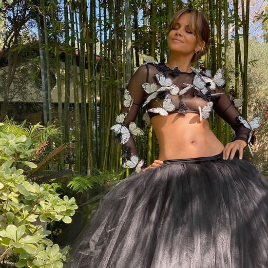 Halle Berry Creates an At-Home Red Carpet Fashion Moment