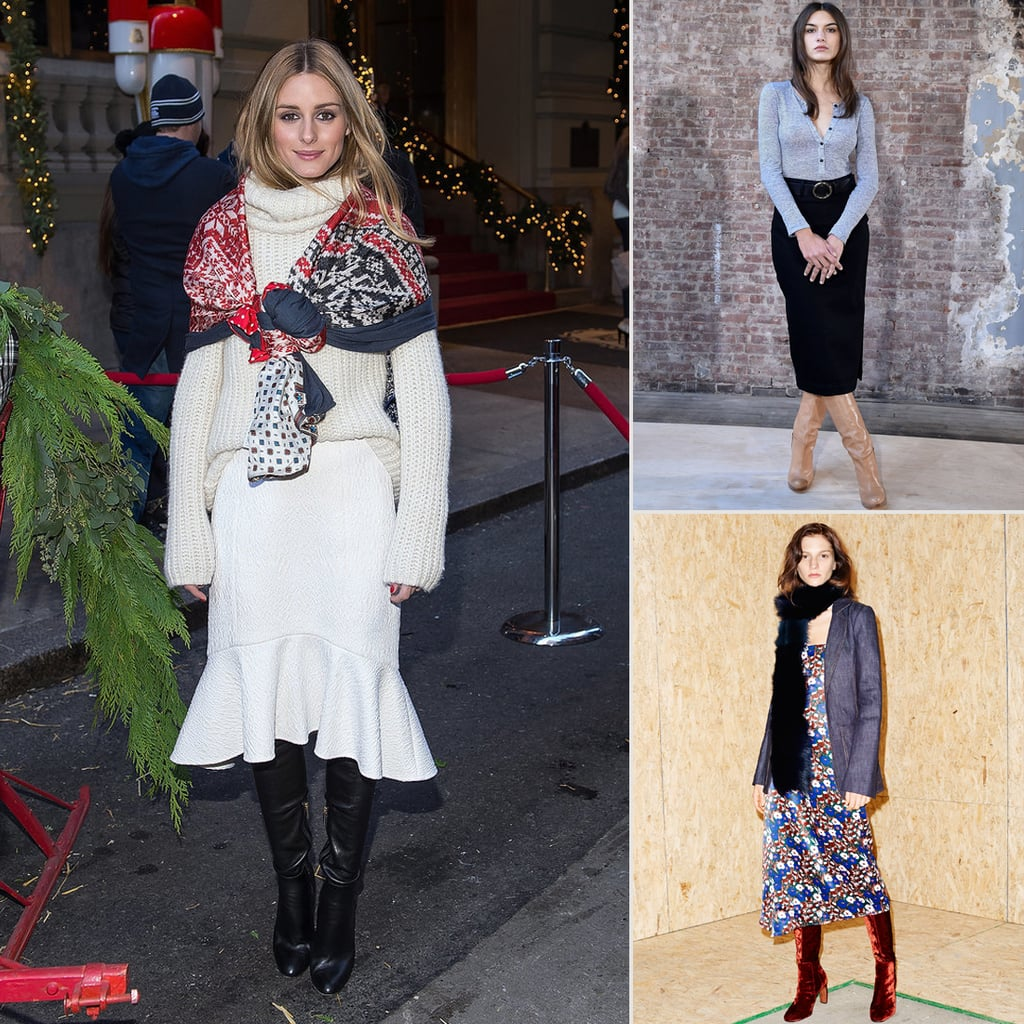 How to Wear Skirts Over Boots