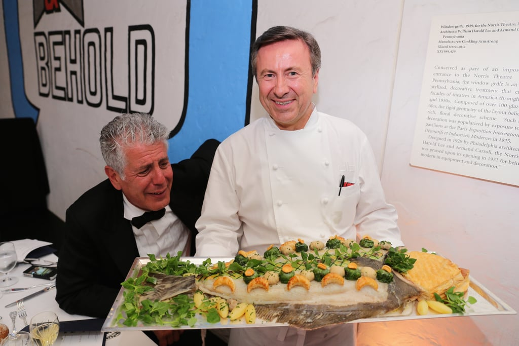 Daniel Boulud Presents the Halibut to Anthony Bourdain