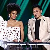 Zazie Beetz and Jon M. Chu at the 2020 Spirit Awards