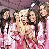 Pictured: Lady Gaga, Jasmine Tookes, Valery Kaufman, Leomie Anderson, and Lais Oliveira