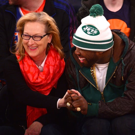Meryl Streep and 50 Cent at a Basketball Game Together