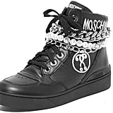 These two-in-one Moschino Sneakers ($595) come with chains and pearls.