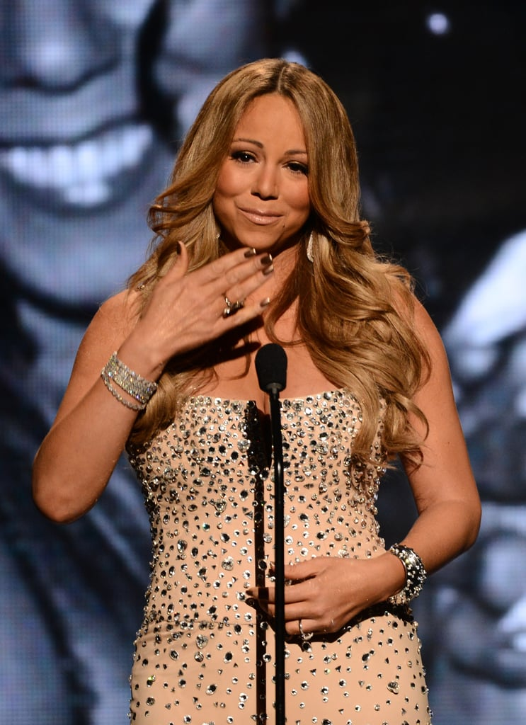 Mariah Carey looked happy to attend the BET Awards in LA.