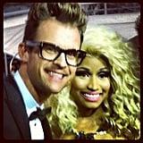 Brad Goreski snapped a pic with Nicki Minaj at the AMAs on Sunday.  Source: Twitter User MrBradGoreski