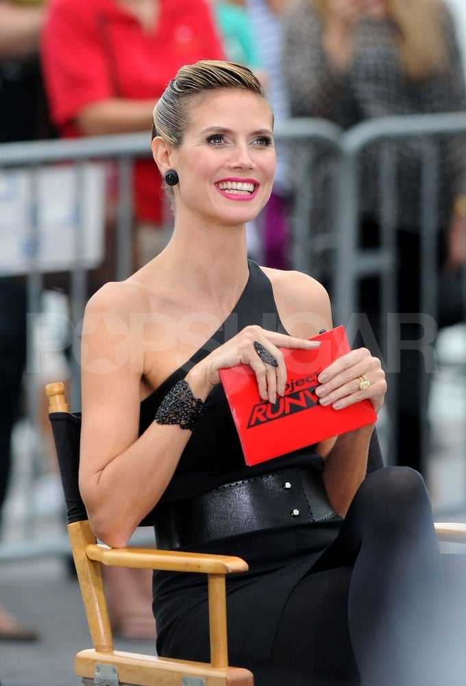 Heidi Klum and the judges are celebrating nine seasons of Project Runway.