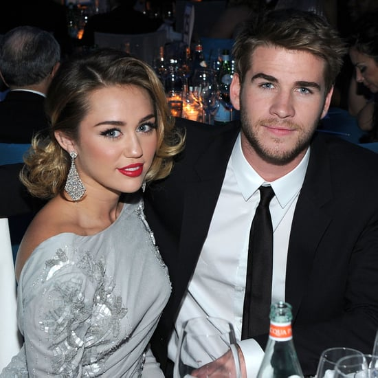 Miley Cyrus and Liam Hemsworth at Elton John Party Pictures