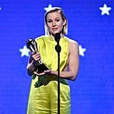 خطاب كريستين بيل خلال حفل توزيع جوائز اختيار النقاد 2020