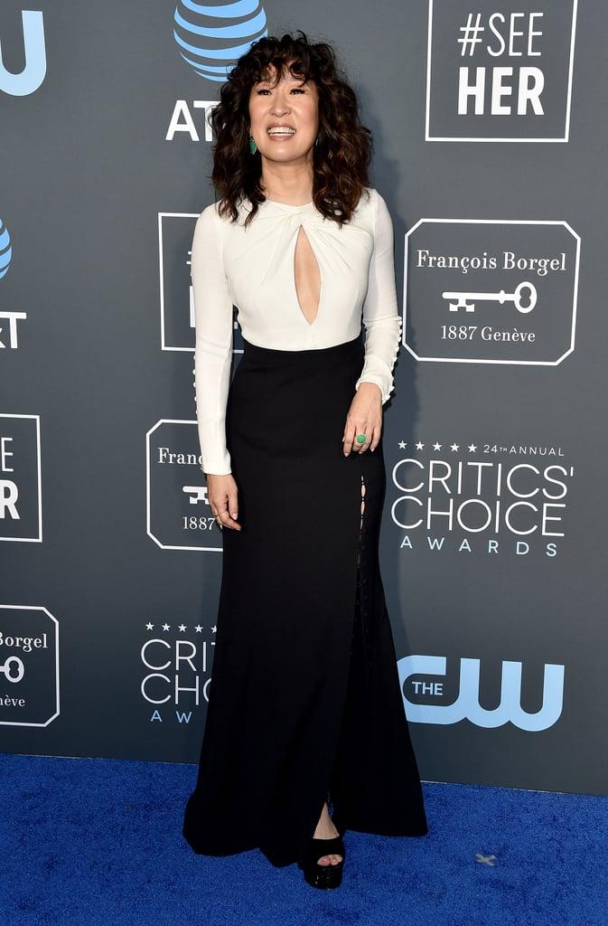 Sandra Oh at the 2019 Critics' Choice Awards