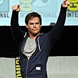 Michael C. Hall struck a badass pose at the Dexter panel at Comic-Con on Thursday.