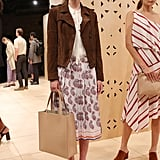 We'd love to see her try pleats and a paisley print for another daytime event.  Banana Republic Spring 2017