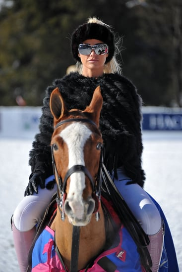 Pictures of Katie Price Riding a Horse at KP Equestrian Event in Klosters Switzerland and Alex Reid at Judo Club
