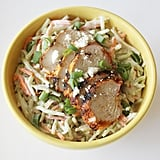 Chicken Slaw Salad With Blue Cheese Yogurt Dressing