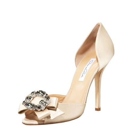 They're the prettiest kind of party shoe, so consider these Oscar de la Renta Jewel-Toe d'Orsays ($995) a real investment in your eveningwear wardrobe.