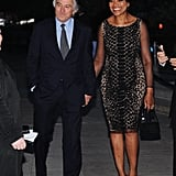 Robert De Niro arrived at the Vanity Fair Party with wife Grace Hightower to kick off the festival.