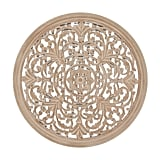 Baylor Carved Wood Medallion